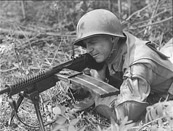 Machine gun M1941 Johnson 3 - Tir à la Johnson M1941