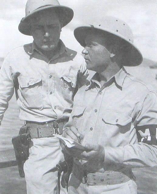m1917 with mps in newguinea 1942 - Des soldats avec leur Smith & Wesson 1917 en Nouvelle Guinée, 1942