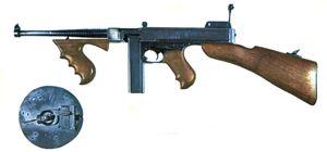 1921 300x140 - Le pistolet-mitrailleur Thompson