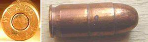 45 M1911 laiton 300x85 - La cartouche de calibre 45 ACP