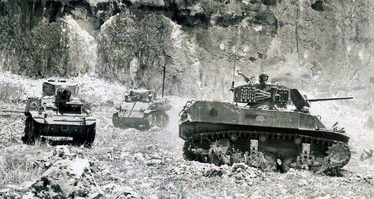 Saipan 01 sm - Les tank Lance-Flammes