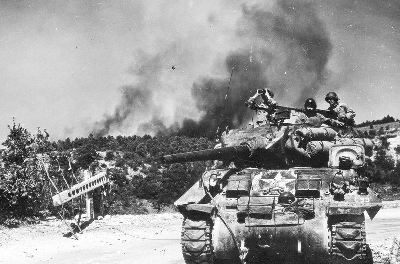 Un M10 du 601st en Provence le 28 août 1944