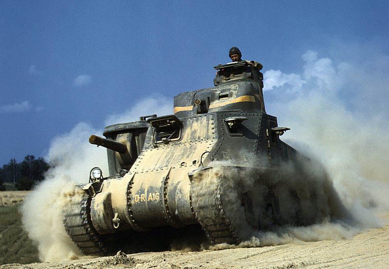 800px M3grantmini - Un tank M3 à Fort Knox en juin 1942