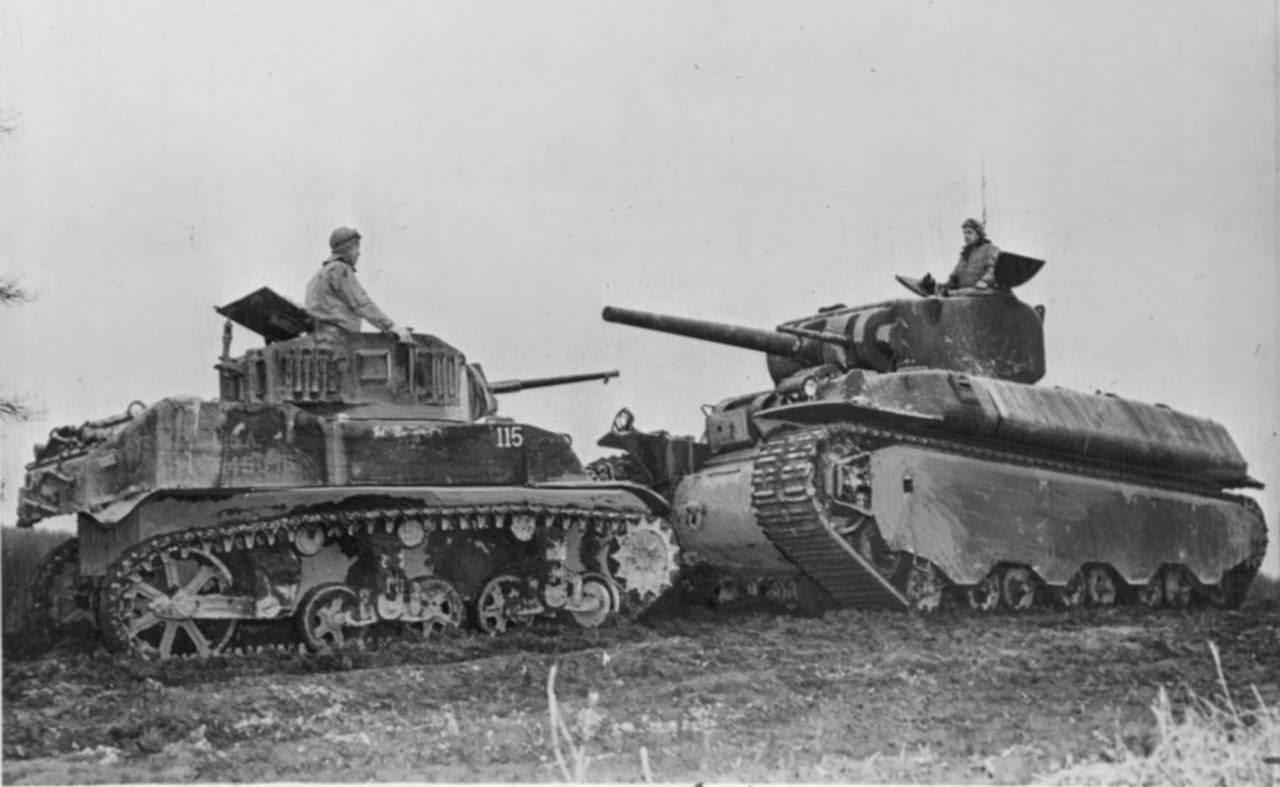M5A1 LIGHT TANK AND M6 HEAVY TANK - Le M6 heavy tank