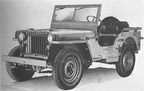 """Jeep willys MB slat - La Jeep MB de type """"Slat"""". Premiers modèles avec grille très fine sur l'avant"""