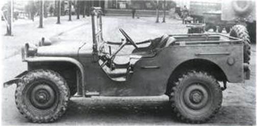Ford pygmy - Jeep Pygmy construite par Budd co