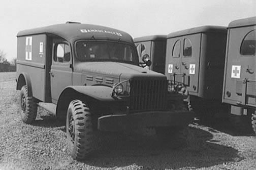 Dodge WC54 ambulance 4 - Un Dodge WC-54 Amulance fraichement sorti d'usine, en avril 1943