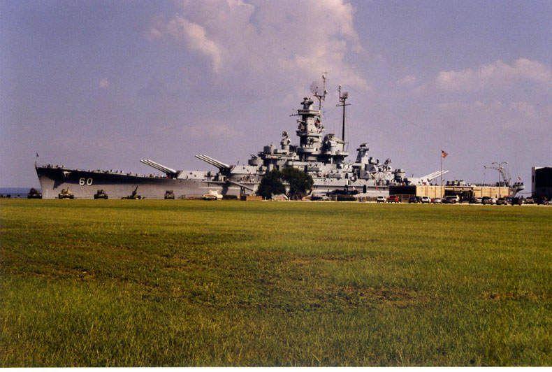 USSAlabama1 - Vue de l'extérieur du musée flottant USS Alabama