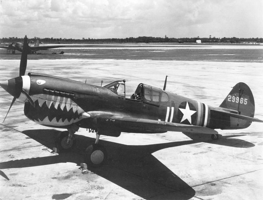 P 40 - P-40K-10-CU de l'USAAF (N° serie 42-9985)