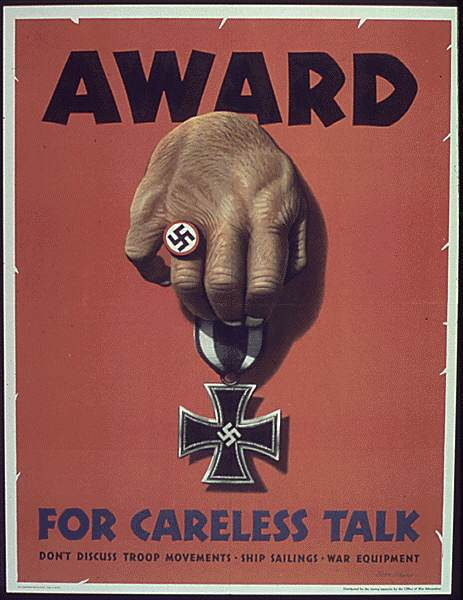 POSTERS USA0716 - Awrd for careless talk