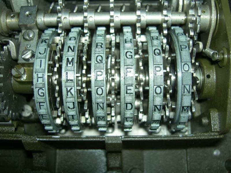 30 fonctionnement - Placement des lettres du converter M-209