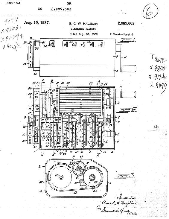 37 brevet - Brevet des machines HAGELIN