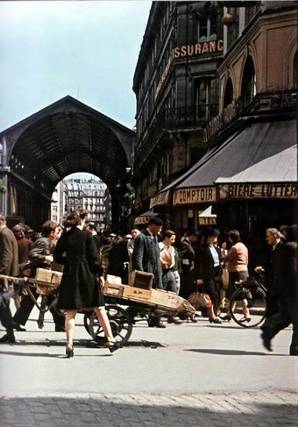 andre zucca Paris sous occupation 1940 1944 23 - Les Halles, en juillet 1942