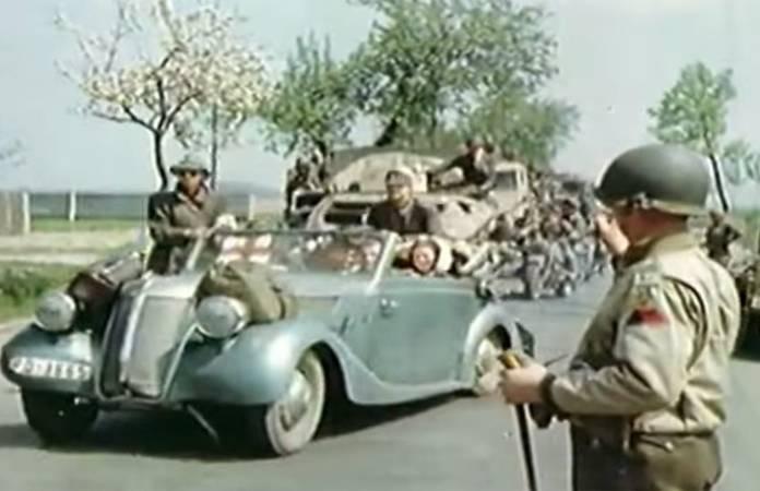 Reddition des troupes Allemandes les 7, 8 et 9 mai 1945 en vidéo couleur