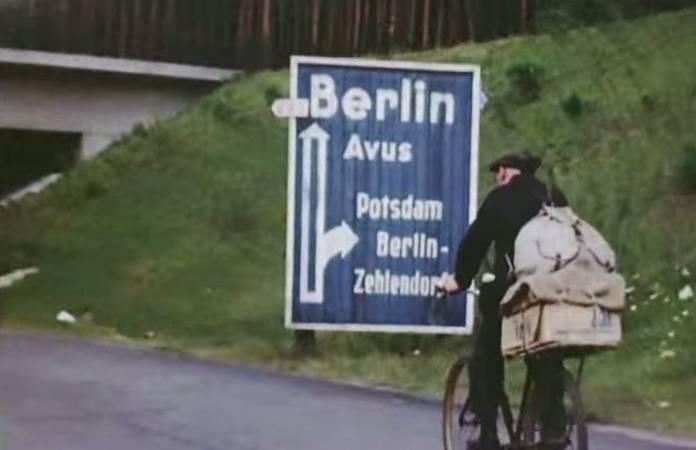 Vidéo couleur de Berlin en 1945