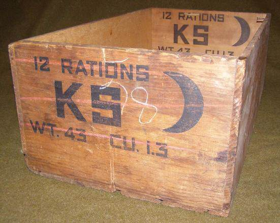 Ration Crate   K Rations - Cette caisse de rations K pouvait contenir 12 repas