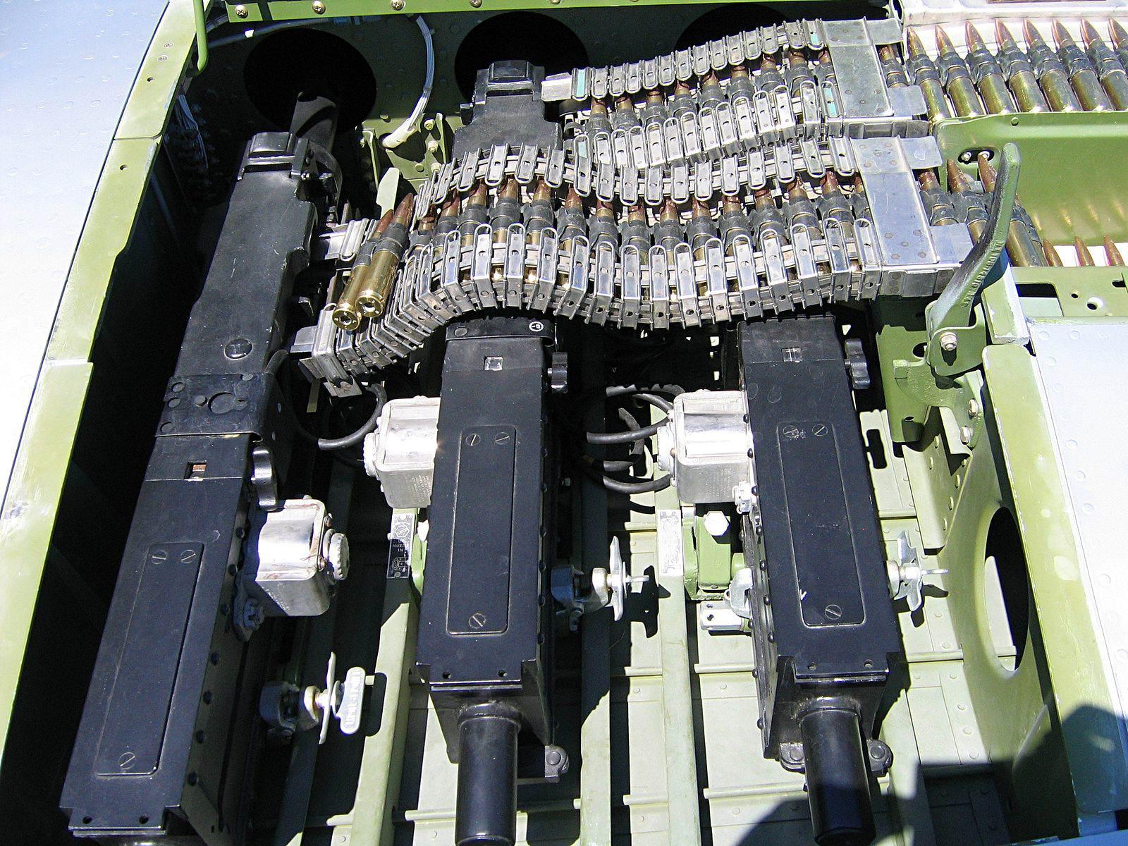 P 51 Guns - Les trois mitrailleuses jumelées d'un P-51 Mustang