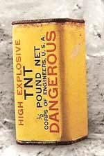 TNT - Le pain de TNT utilisé sur le pole charge