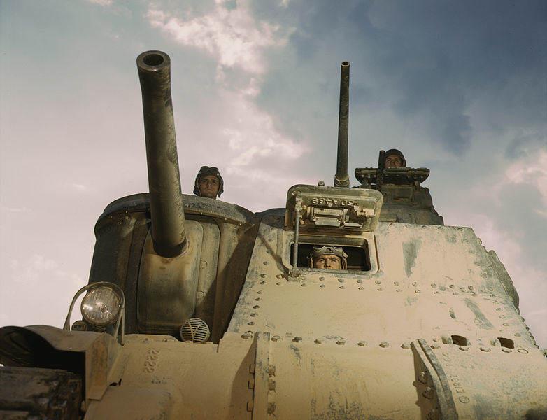 782px Medium tank M3 front - L'équipage du M3