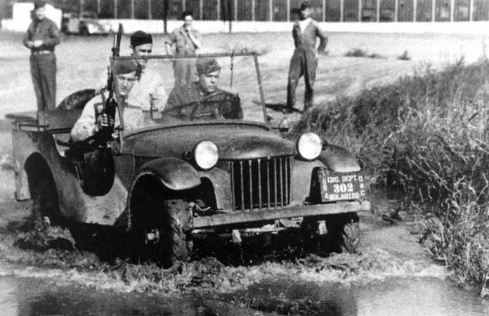 Premiers tests sur le prototype de jeep Bantam au Camp Holabird