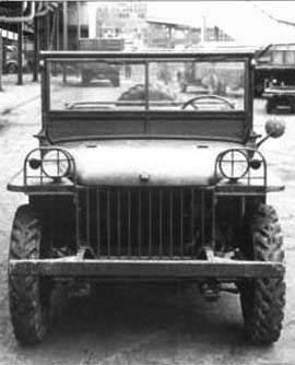 jeep pygmy budd 375 - La Ford pigmy du constructeur Budd de face : La ressemblance avec le prototype Bantam est flagrante