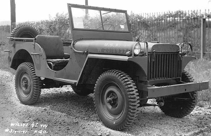 La jeep Willys-Overland MA, le 1er juillet 1941