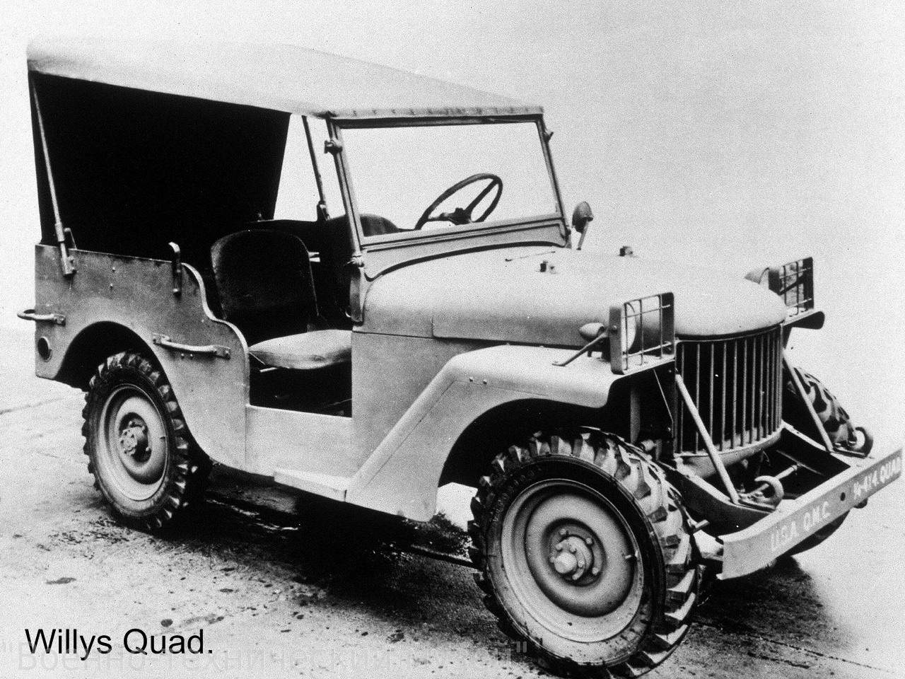 willys quad 2 - La Jeep Willys-Overland quad