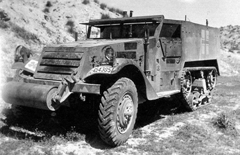 halftrack 43 - Un M2 capturé par la 19. Flak-Division Allemande en Afrique, entre août 1942 et mai 1943