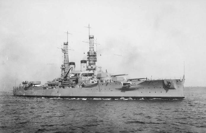 Le USS Arkansas, vers 1918
