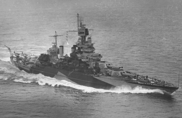 Le USS Maryland en avril 1944