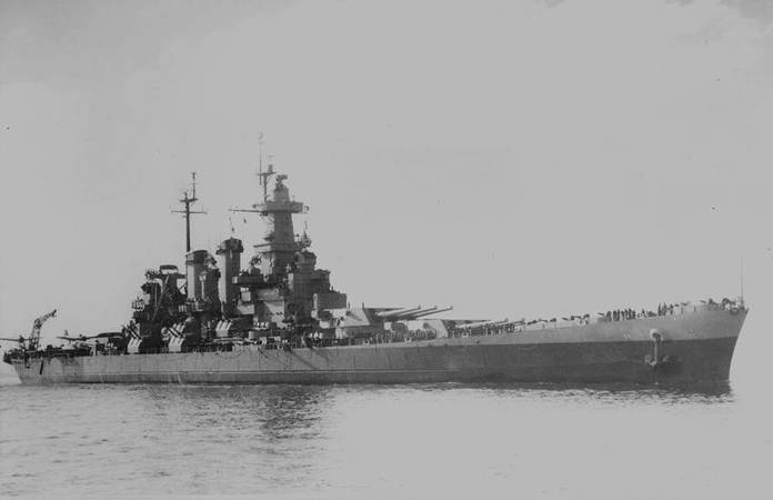 Le USS North Carolina en 1945