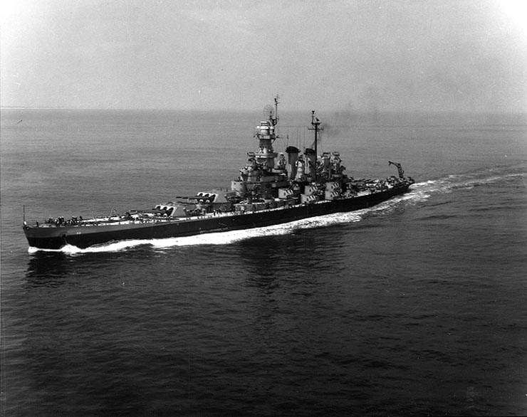 Uss north carolina bb - Le USS North Carolina en 1946 au large de New York City