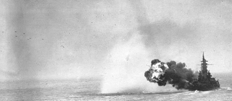 MassKamaichi - Le 9 août 1945, le USS Massachusetts lors du bombardement de Kamaishi