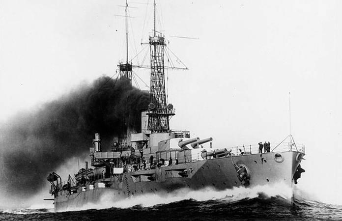 Le USS New York, le 29 mai 1915