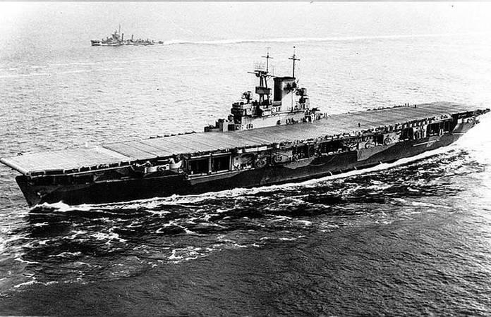 Le USS Wasp (CV-7) le 26 mai 1942