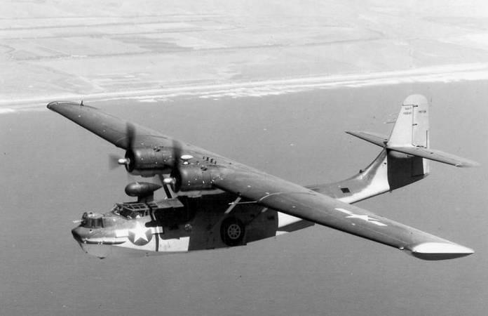 Un consolidated PBY Catalina avec un radar, vers 1945