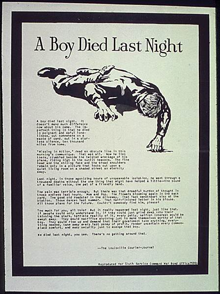 POSTERS USA0829 - A boy died last night