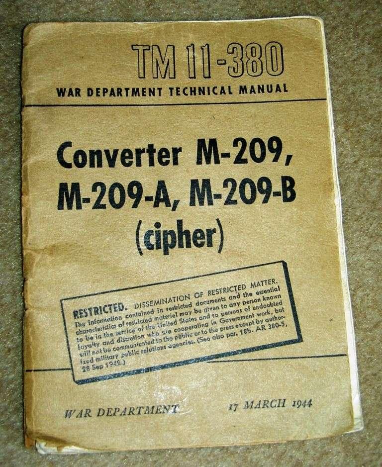 8 manuel restricted m209 - Manuel du M-209